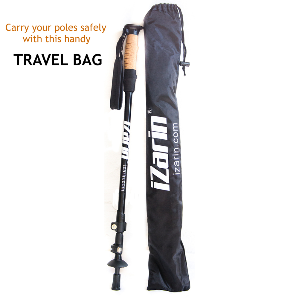Nordic Walking Sticks With Carry Travel Bag And Accessories
