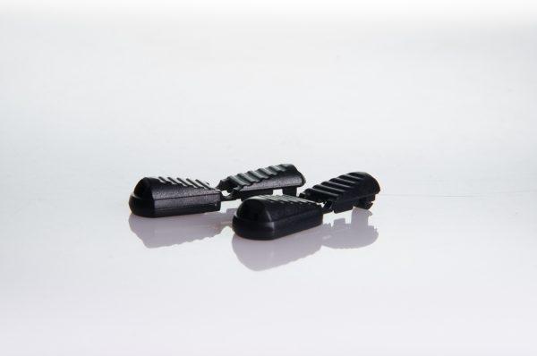 Clips for no-tie shoe laces