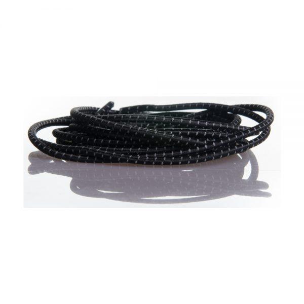 Reflective thread elastic no-tie shoe laces system