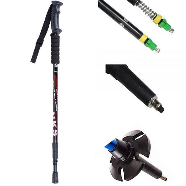 Anti Shock walking pole, tips, mud basket