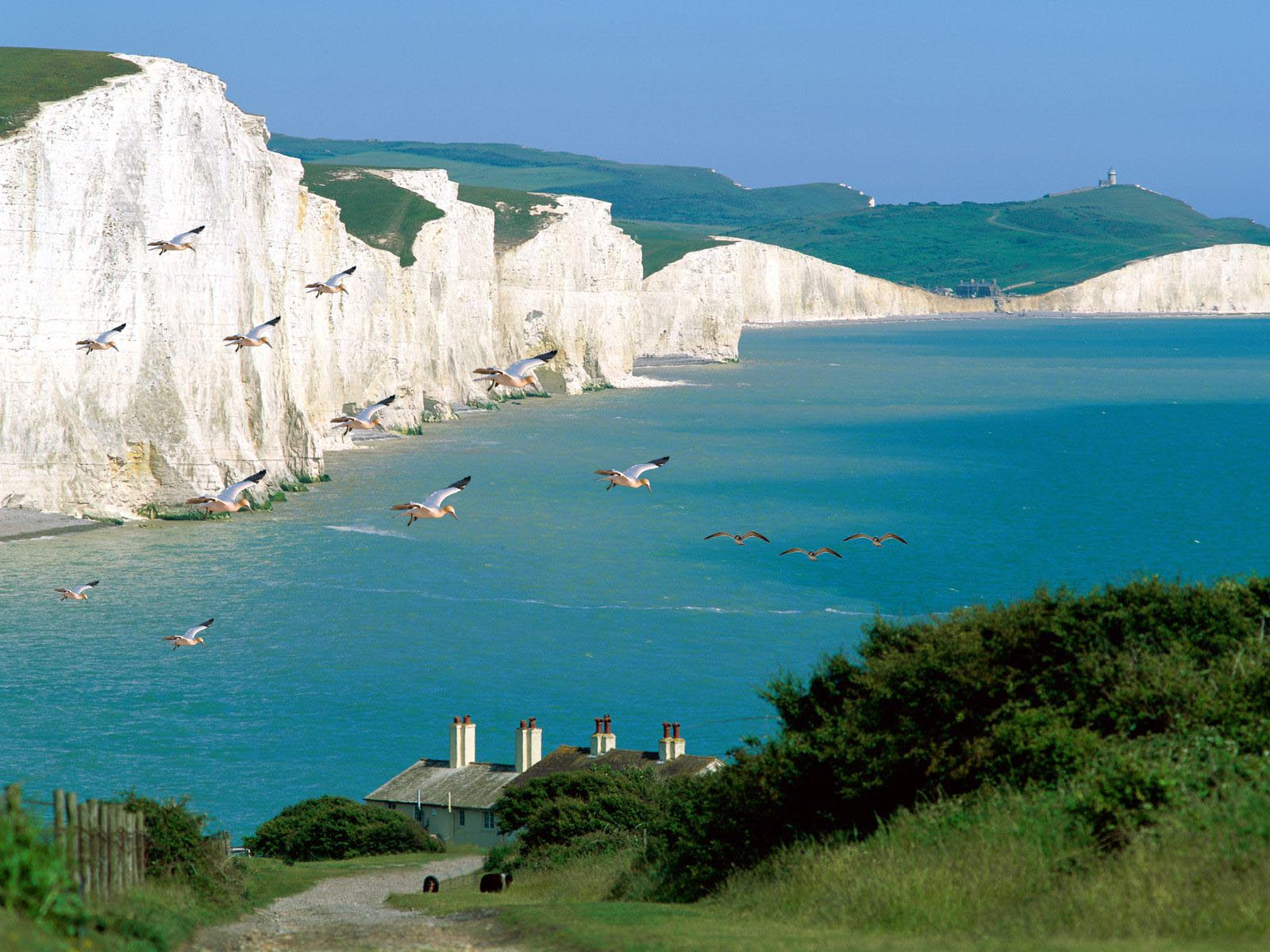Long Distance Walks in Seven Sisters, East Sussex in England