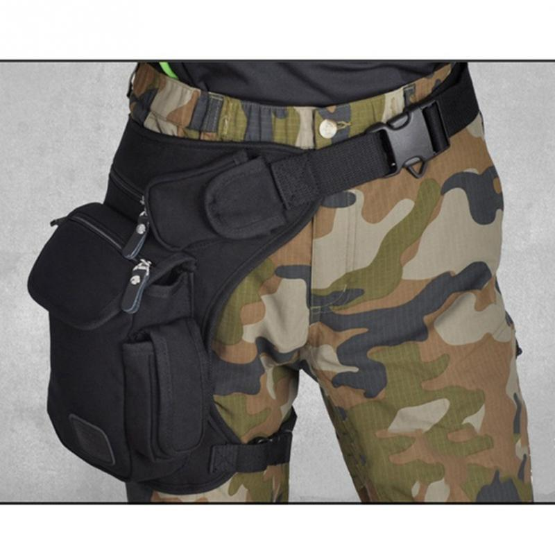 New Canvas Tactical Military Waist Bag Outdoor Multi-pocket Fanny Pack Thigh Bag