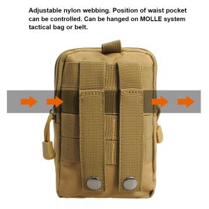 Tan Tactical Waist Belt Bag - Back View