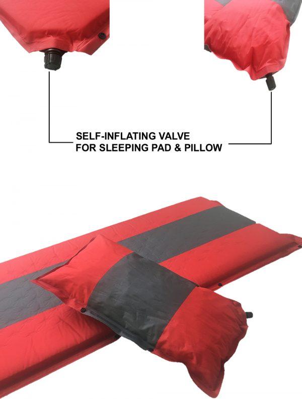 Self Inflating Camping Mat and Pillow Valve